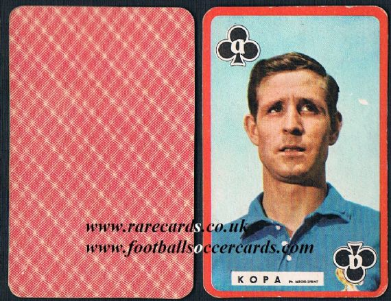 1960 Raymond Kopa Miroir Sprint playing card